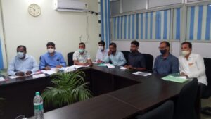 Review meeting under the chairmanship of Dr Safeena AN, Secretary, MWD